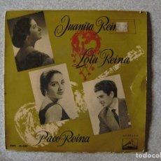 Discos de vinilo: JUANITA REINA-LOLA REINA-PACO REINA.EL PATIO DE LOS LUCEROS+3...LEER...MUY DIFICIL. Lote 151160154
