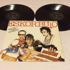 Discos de vinilo: ESKORBUTO - IMPUESTO REVOLUCIONARIO, LP DOBLE, 1986, ESPAÑA, PRIMERA EDICIÓN. Lote 151178585