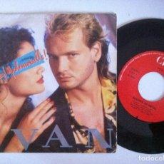 Discos de vinilo: IVAN - HEY MADEMOISELLE / NOCHES DE METAL - SINGLE 1986 - CBS. Lote 151185510