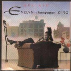 Discos de vinilo: EVELYN CHAMPAGNE KING-FLIRT/ LP MAXISINGLE MANHATTAN DE 1988 ,RF-7404. Lote 151188202