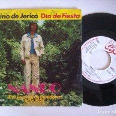 Discos de vinilo: NANDO - CAMINO DE JERICO / DIA DE FIESTA - SINGLE 1974 - UNIC / EKIPO - FESTIVAL DE BENIDORM. Lote 151190542