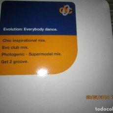 Discos de vinilo: EVOLUTION - EVERYBODY DANCE MAXI 33 R.P.M. - ORIGINAL INGLES - BMG RECORDS 1993 -. Lote 151210126