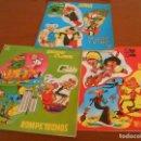 Discos de vinilo: LOS TRES LP EDITADOS DE PERSONAJES DE BRUGUERA MORTADELO,SACARINO,ROMPETECHOS ETC. Lote 151210466