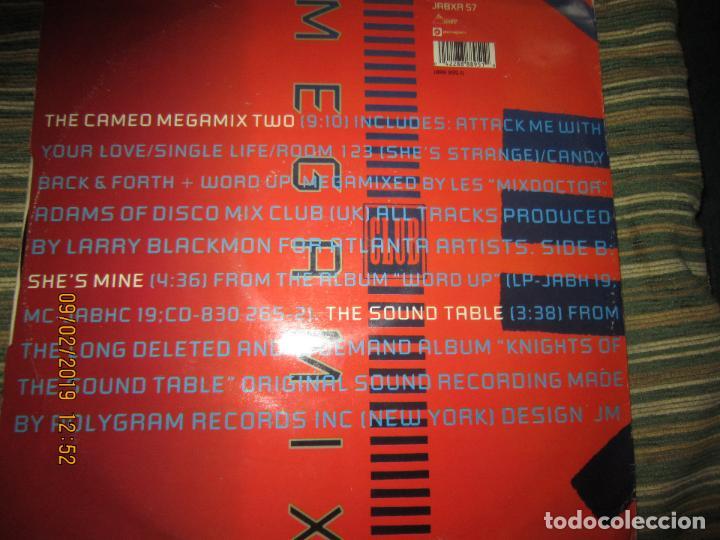 Discos de vinilo: CAMEO - MEGAMIX TWO MAXI 45 R.P.M. - ORIGINAL INGLES - POLYGRAM RECORDS 1987 - - Foto 2 - 151210974