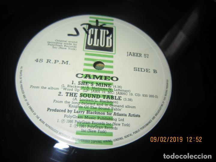 Discos de vinilo: CAMEO - MEGAMIX TWO MAXI 45 R.P.M. - ORIGINAL INGLES - POLYGRAM RECORDS 1987 - - Foto 5 - 151210974