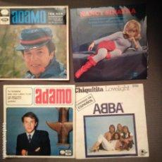 Discos de vinilo: LOTE 4 DISCOS ADAMO, ABBA CANTA EN ESPAÑOL, NANCY SINATRA. Lote 151227198