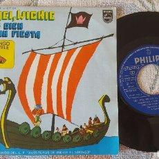 Discos de vinilo: WICKIE EL VIKINGO - SOMOS CIEN SINGLE 1975. Lote 151232809