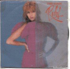 Disques de vinyle: RUBY / DIME DONDE / UN MILLON POR CADA GOLPE (SINGLE 1982). Lote 151257750