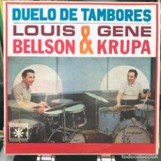 Discos de vinilo: LOUIS BELLSON & GENE KRUPA – THE MIGHTY TWO 1963 JAZZ BOSSA. Lote 151328058