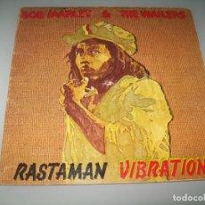 Discos de vinilo: BOB MARLEY & THE WAILERS - RASTAMAN VIBRATION ..LP DE 1ª EDICION 1976 - ISLAND. Lote 151332214