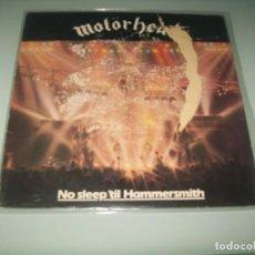Discos de vinilo: MOTÖRHEAD - NO SLEEP TIL HAMMERSMITH ..LP DE 1981 - BRONZE - EDICION ORIGINAL .. Lote 151332874