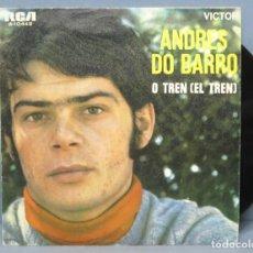 Discos de vinilo: SINGLE. ANDRES DO BARRO. O TREN. MIÑA MARUXA. Lote 151351310