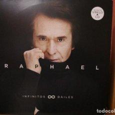 Discos de vinilo: DOBLE LP + CD RAPHAEL INFINITOS BAILES //AUNQUE A VECES DUELA // LA CARTA // UNA VIDA // NEGRO //. Lote 151352594