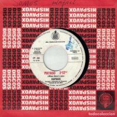 Discos de vinilo: RAPHAEL - SOMOS / PAYASO (SINGLE PROMO ESPAÑOL, HISPAVOX 1960). Lote 151359966