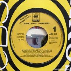 Discos de vinilo: MANIC STREET PREACHERS - LA TRISTESSE DURERA - SINGLE CBS 1993 PROMO UNA CARA. Lote 151361698