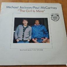 Discos de vinilo: MAXI SINGLE THE GIRL IS MINE MICHAEL JACKSON PAUL MCCARTNEY. Lote 151362740