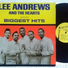 Discos de vinilo: LEE ANDREWS AND THE HEARTS - '' BIGGEST HITS '' LP ORIGINAL USA 1964. Lote 151373822