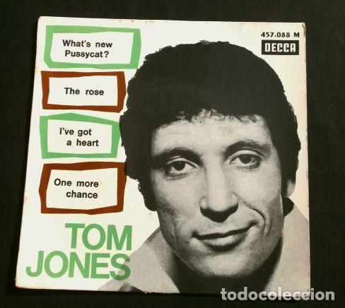 TOM JONES (EP. 1965) WHAT'S NEW PUSSYCAT? EDICIÓN FRANCESA DECCA -TEMA DEL FILM ¿QUÉ TAL, PUSSYCAT? (Música - Discos de Vinilo - EPs - Pop - Rock Internacional de los 50 y 60	)