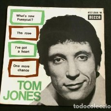 Discos de vinilo: TOM JONES (EP. 1965) WHAT'S NEW PUSSYCAT? EDICIÓN FRANCESA DECCA -TEMA DEL FILM ¿QUÉ TAL, PUSSYCAT?. Lote 151383046