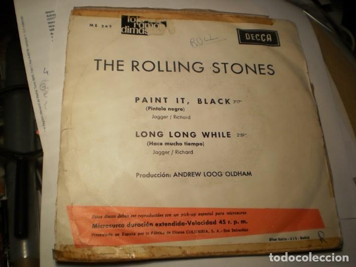 Discos de vinilo: single the rolling stones. paint it, black. long long while. decca 1966 spain (probado y bien) - Foto 2 - 151390630