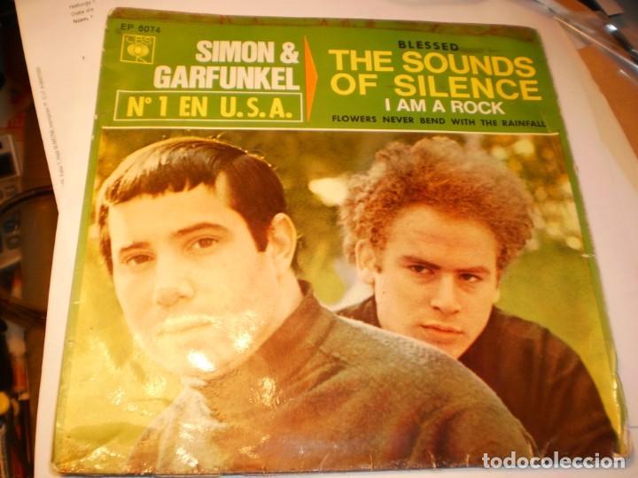 SINGLE SIMON & GARFUNKEL THE SOUNDS OF SILENCE. I AM A ROCK. CBS 1966 SPAIN (PROBADO Y BIEN) (Música - Discos - Singles Vinilo - Pop - Rock Extranjero de los 50 y 60)