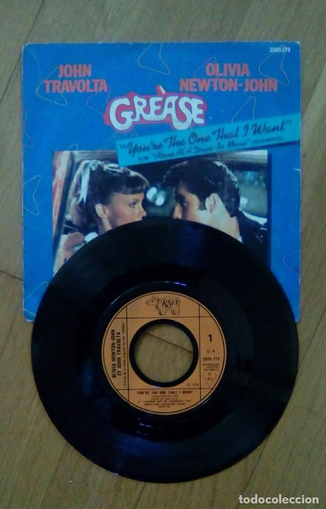 Discos de vinilo: Grease - You're the one that i want / Alone at a drive - In movie, Eso, 1978. Francesa. - Foto 3 - 151398262
