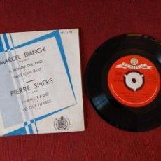 Discos de vinilo: MARCEL BIANCHI & PIERRE SPIERS EP EL HOMBRE QUE AMO ENAMORADO HISPAVOX + 5 ENVIO N.C.. Lote 151404052