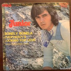 Discos de vinilo: JUNIOR – BONELY BONELA. VERSION EN INGLES SELLO: RCA VICTOR ?– 3-10744 FORMATO: VINYL, 7 . Lote 151416534