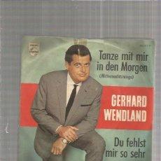 Discos de vinilo: GERHARD WENDLAND. Lote 151424490