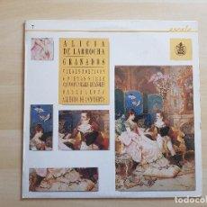 Discos de vinilo: ALICIA DE LARROCHA - GRANADOS - LP - VINILO - HISPAVOX - 1988. Lote 151425290