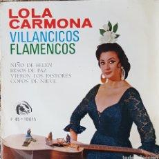 Discos de vinilo: LOLA CARMONA EP SELLO FIDIAS AÑO1966 VILLANCICOS FLAMENCOS. Lote 151429701