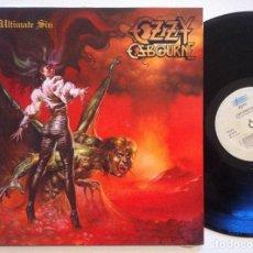 Discos de vinilo: OZZY OSBOURNE - THE ULTIMATE SIN - LP ESPAÑOL 1989 - EPIC. Lote 151437522