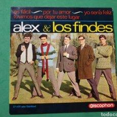 Discos de vinilo: SINGLE. ALEX Y LOS FINDES. DISCOPHON 1965. Lote 151449120
