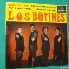 Discos de vinilo: SINGLE. LOS BOTINES.COLUMBIA 1965. Lote 151452810