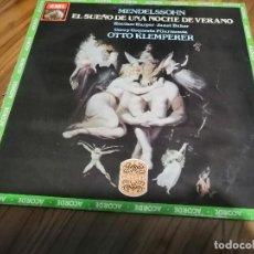Discos de vinilo: MELDENSSHN. EL SUEÑO DE UNA NOCHE DE VERANO. OTTO KLEMPERER. VINILO Y CARPETA EN BUEN ESTADO. Lote 151458918