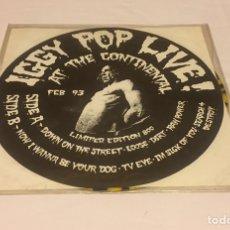 Discos de vinilo: IGGY POP - LIVE AT THE CONTINENTAL FEB 93, LP NO-OFICIAL, EDICIÓN LIMITADA, USA. RARO!!!. Lote 151463793