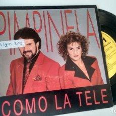 Discos de vinilo: SINGLE (VINILO)-PROMOCION- DE PIMPINELA AÑOS 90. Lote 151470542