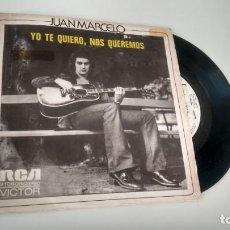 Discos de vinilo: SINGLE (VINILO)-PROMOCION- DE JUAN MARCELO AÑOS 70. Lote 151470866