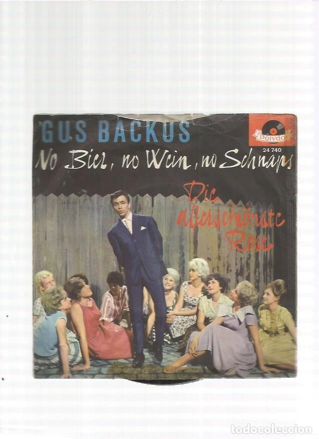 GUS BACKUS NO BIER (Música - Discos - Singles Vinilo - Otros estilos)