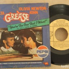 Discos de vinilo: BSO GREASE JOHN TRAVOLTA OLIVIA NEWTON-JOHM SINGLE VINYL MADE IN SPAIN 1978 PROMOCIONAL. Lote 151480546