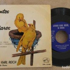 Discos de vinilo: CANTOS DE PAJAROS SINGLE VINYL MADE IN SPAIN 1959. Lote 151480882