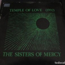 Discos de vinilo: THE SISTERS OF MERCY - TEMPLE OF LOVE - SG - EDICION INGLESA DEL AÑO 1992.. Lote 151481614