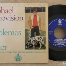 Discos de vinilo: RAPHAEL EUROVISION 67 HABLEMOS DEL AMOR SINGLE VINYL MADE IN SPAIN 1967. Lote 151482390