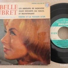 Discos de vinilo: ISABELLE AUBRET BSO TINTIN ET LE MYSTERE DE LA TOISON D'OR SINGLE VINYL MADE IN FRANCE . Lote 151483218