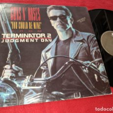 Discos de vinilo: GUNS N'ROSES YOU COULD BE MINE/CIVIL WAR MX 12 1991 DAVID GEFFEN SPAIN TERMINATOR 2 JUDGMENT DAY. Lote 151485126