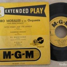 Discos de vinilo: NORO MORALES Y SU ORQUESTA PELLIN RODRIGUEZ SINGLE EP VINYL MADE IN SPAIN. Lote 151486334