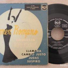 Discos de vinilo: CARMEN ROMANO Y ORQUESTA NORO MORALES LLAMADA SINGLE EP VINYL MADE IN SPAIN . Lote 151486606