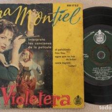 Discos de vinilo: SARA MONTIEL LA VIOLETERA SINGLE EP VINYL MADE IN SPAIN . Lote 151487126