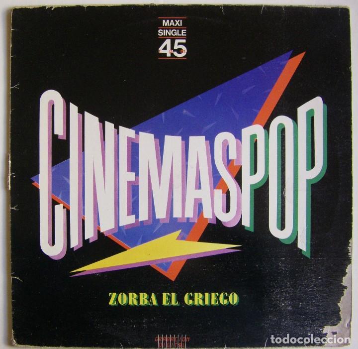 CINEMASPOP-ZORBA EL GRIEGO, WEA 24 9837-0 (Música - Discos de Vinilo - Maxi Singles - Grupos Españoles de los 70 y 80)