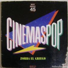 Discos de vinilo: CINEMASPOP-ZORBA EL GRIEGO, WEA 24 9837-0. Lote 151490846
